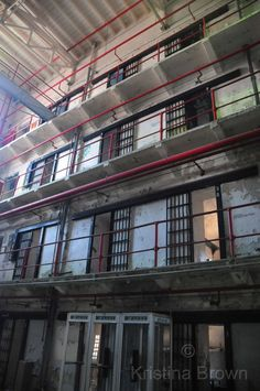 Architecture Photography Prison Jail Bars Photo Missouri State Penitentiary Old Abandoned Jail by SilverBirdBoutique