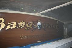 #TRANSOM: Bangarang, Wrightsville Beach #Boat #Transom #BoatTransom  TRANSOM #TECHNIQUE: #GoldLeaf #CustomGraphics  #CustomBoatLettering    #BOAT #BUILDER #BoatBuilder: #SpencerYachts , #NorthCarolina