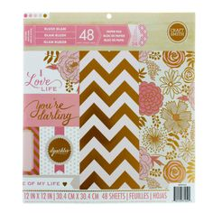 Add romantic style and whimsy to your next paper crafting project with this specialty paper pad. Featuring an assortment lovely patterns with foil detailing, this quality paper pack includes designs a