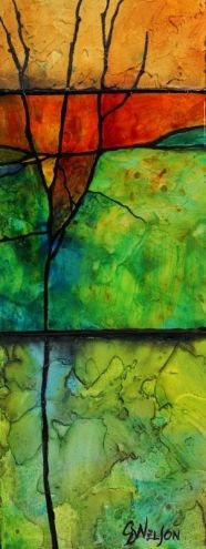 Make a Wish mixed media abstract paitning Carol Nelson Fine Art, painting by artist Carol Nelson