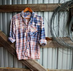 Small Distressed Vintage Flannel from Mad Mary's Boutique