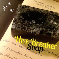 Hex Breaker Soap - Curse Breaking Soap - Activated Charcoal Soap Useful stocking coal :) For the naughty and nice alike!