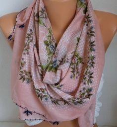 Turkish Anatolians Floral Cotton Scarf Summer Yemeni by fatwoman