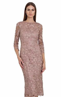 50174fbd825 JS Collections - Quarter Length Sleeves Lace Dress 864572. Midi Dress With  Sleeves