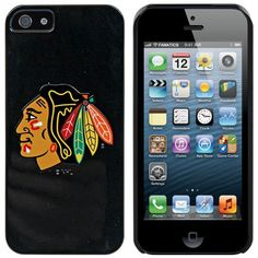 Chicago Blackhawks  Primary Logo design on a Black iPhone 5s  5 Thinshield SnapOn Case ** Read more reviews of the product by visiting the link on the image.