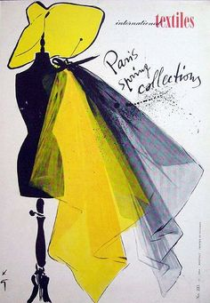 René Gruau spring collection vintage poster fashion