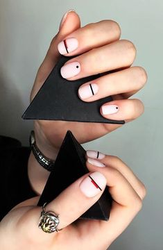 "25 Stunning Minimalist Nail Art Designs 25 Stunning Minimalist Nail Art Designs,Paznokcie Obtain wonderful ideas on ""gel nail designs for fall autumn"". They are actually readily available for you on our internet site. Nude Nails, Acrylic Nails, Gel Nails, Nail Polish, Coffin Nails, Nails After Acrylics, Stiletto Nails, Fancy Nail Art, Black Nail Art"