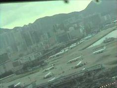 747 Cockpit Landing Hong Kong Kai Tak Airport (1998)