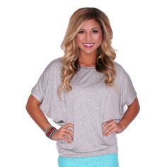 SOUTHERN SWANK TEE IN HEATHER GREY  IMPRESSIONS  $24.00