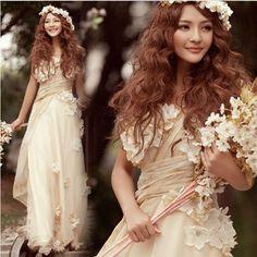 【オーダーメイド無料】パーティードレス 結婚式★2色選択可、ウェディングドレス、カラードレス、超可愛い、着痩せ、エンパイア、ステージ衣装hs183