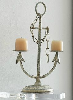 Anchor Candle Holder $13.99 Wisteria's Annual Winter Sale: http://www.completely-coastal.com/p/coastal-sale-island.html