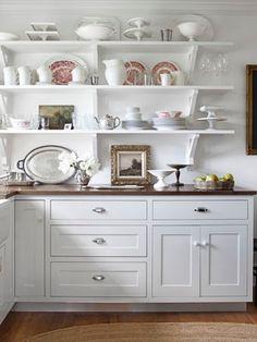 Countertops/shelving/white/clean