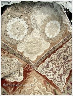quilt with doilies | Suziqu's Threadworks: Where Bloggers Create Event 2013 and Giveaway