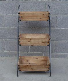 Look what I found on #zulily! Three-Tiered Box Cart #zulilyfinds
