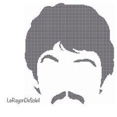 Modern cross stitch pattern The Beatles silhouette Paul McCarthey on Etsy, 3,00€
