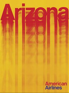 Arizona, American Airlines vintage travel poster