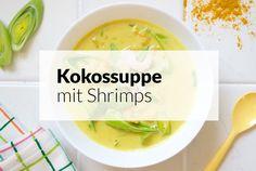 Kokossuppe mit Shrimps
