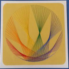 Fadengrafik+Karte+Geometrie+11+rainbow+von+Rene´s+Fadengrafiken+auf+DaWanda.com