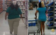 The one on the left with the leash in her hand must be looking for her pet skunk. I guess she doesn't know it's on top of her head! The one on the right obviously ran out of bleach half way through with her hair! Funny Walmart People, Go To Walmart, Only At Walmart, Walmart Customers, Walmart Shoppers, Why Do People, Crazy People, Strange People, Which Hair Colour