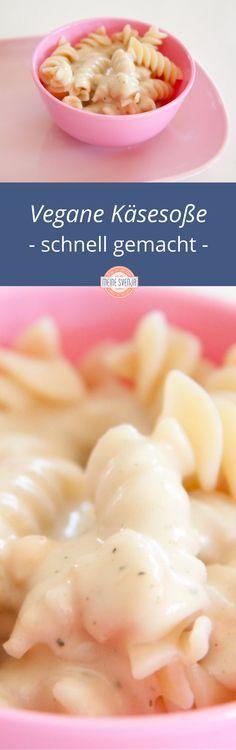 Vegane Käsesoße - super für ein schnelles Nudelgericht oder zu Backofengemüse. Mit nur vier Zutaten im Handumdrehen gemacht. Meine Kinder lieben diese Soße über alles. Wie es geht, zeige ich Dir auf meinem Blog: http://www.meinesvenja.de/2014/03/15/vegane-kaesesauce/