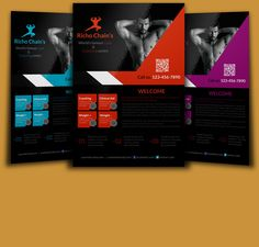 Body Fitness Flyer Template by Psd Templates on @creativemarket