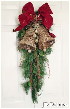 door swags for christmas - Google Search