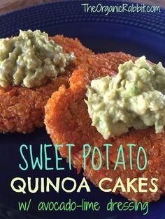 sweet potato quinoa cake paleo gluten free vegan protein dairy free avocado