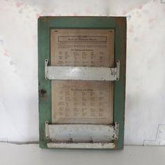 Vintage wood Seller\u0027s Cabinet door with original menu chart and metal racks in wonderful chippy mint & Hoosier Door Chart - Card Set | kitchens | Pinterest | Hoosier ...