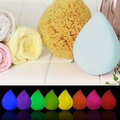 Everyone in the family will love our Water Drop Rainbow Bath Light!  Turn off the lights, turn on the water and watch it light up the room with a light show changing gradated colors of the rainbow.   Water sensing contacts on the bottom of the light activate the led light show as it  floats around in your bath or pool!   Measures 4.5 inches tall 3.25 inches wide.  Replaceable batteries are included so you'll instantly be ready to get your glow on!