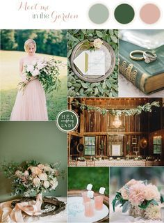 Down the Garden Path - Forest Green and Blushing Peach Wedding Inspiration   See More! http://heyweddinglady.com/down-the-garden-path-a-forest-green-and-peach-wedding/