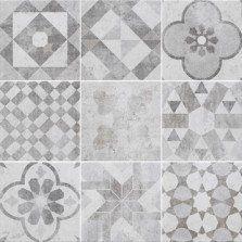 Carrelage gris & blanc effet terre cuite Villa l.20 x L.20 cm