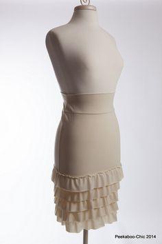 """Bring on the Frill"" Layering Skirt-Cream"