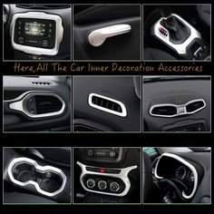 For Jeep Renegade Auto Inner Door Bowl Cover CD Middle Air Outlet Gear Water cup Armrest Box Fog Lamp Trim 2015 2017 Accessories-in Styling Mouldings from Automobiles & Motorcycles on Aliexpress.com | Alibaba Group