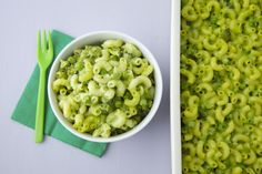 Green Mac and Cheese on Weelicious