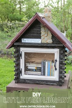 A unique Little Free Library located in Ohio. #sharebooks #littlefreelibraries #littlelibrary #littlefreelibrariesofinstagram #bookstagram #freelittlelibrary #bookbox #LittleFreeLibrary #bookaholic #igbooks #bookworm #reading #booknerd #booklove #ilovereading #instaread #bookish Little Free Libraries, Little Library, Free Library, Rough Cut Lumber, Rural Area, I Love Reading, Metal Roof, Log Homes, Book Nerd