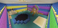 Minecraft Inside Play Room Trampoline Swing Set Sand Box Minecraft Dogs, Minecraft Garden, Minecraft Projects, Minecraft Designs, Minecraft Buildings, Minecraft Stuff, Trampoline Swing, Minecraft Creations, Sandbox