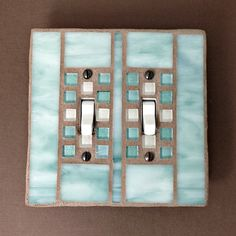 decorative switch plate cover double toggle switchplate light switch cover mosaic stained glass - Decorative Light Switch Plates