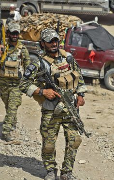 Afghan special forces soldier.