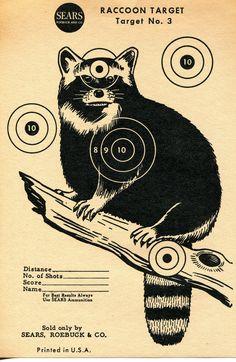 Racoon target - SEARS, ROEBUCK & CO.
