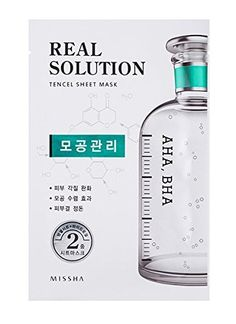 Missha Real Solution Tencel Sheet Mask AHA BHA 10Sheets ** You can find more details by visiting the image link. (Note:Amazon affiliate link)