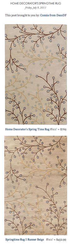 COPY CAT CHIC FIND: Home Decorator's Spring Time Rug VS Springtime Rug I Runner Beige