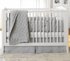 Elephant Organic Crib Fitted Sheet | Pottery Barn Kids