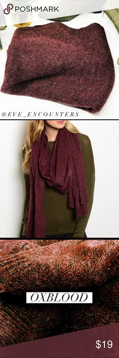 | LONGLINE KNIT SCARF | This heathered longline knit scarf is the ultimate cold weather essential. This versatile scarf will keep you warm and stylish! 70% Polyester 27% Acrylic 3% Nylon. Hand wash. 90'L x 27'W. Available in 5 colors. EVETTE ENCOUNTERS Accessories Scarves & Wraps