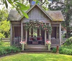 She Needs a She Shed with Fixer Upper Farmhouse Flair! - The Cottage Market - She Needs a She Shed with Fixer Upper Farmhouse Flair! She Needs a She Shed with Fixer Upper Farmhouse Flair! – The Cottage Market Style At Home, Diy Shed Plans, Barn Plans, Garage Plans, Wood Plans, Shed Ideas, Small Shed Plans, Shed House Plans, Diy Ideas