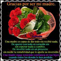 SUEÑOS DE AMOR Y MAGIA: Gracias Mamá