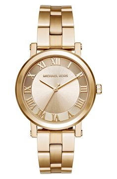In love with this classic gold watch by Michael Kors. It will be the perfect…