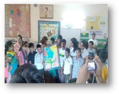 Employees from MacGraw Hill interact with students from Mission Education centre Ina Raja. #MacGrawHill #Smilefoundation #education