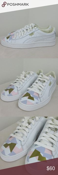 NWOB Puma Basket Classic Geo Camo Sneakers Sz 7.5 new without box Puma Shoes Sneakers