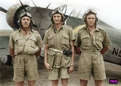 Colorized Photos and Artwork — South African pilots pose in front of their. Military Jets, Military Aircraft, South African Air Force, British Armed Forces, Colorized Photos, Ww2 Planes, Fighter Pilot, Army & Navy, Ww2 Aircraft
