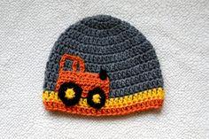 Tractor Truck Crochet Hat Beanie by AppleBabiesBoutique on Etsy